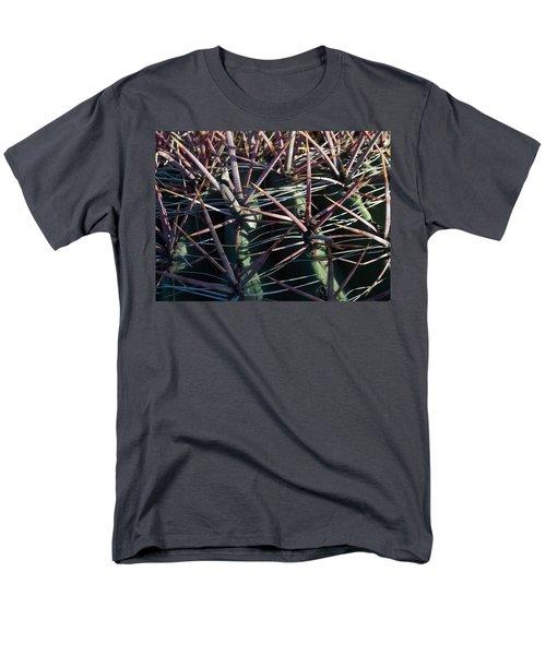 Men's T-Shirt  (Regular Fit) featuring the photograph Saguaro Grid by Carolina Liechtenstein