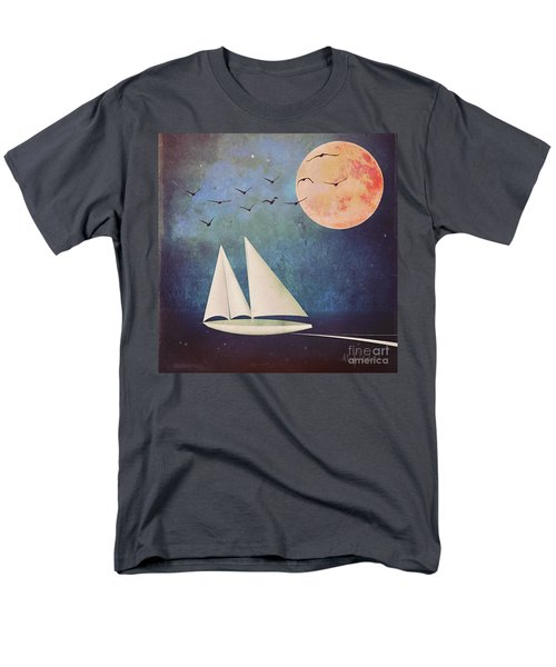 Men's T-Shirt  (Regular Fit) featuring the digital art Sail Away by Alexis Rotella