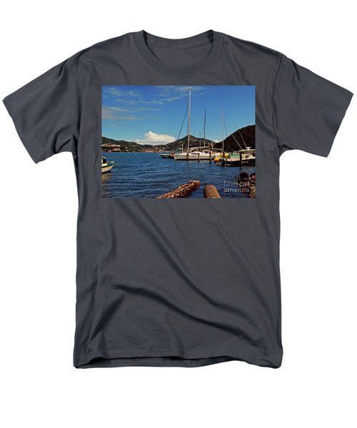 Sail Boat Men's T-Shirt  (Regular Fit) by Gary Wonning