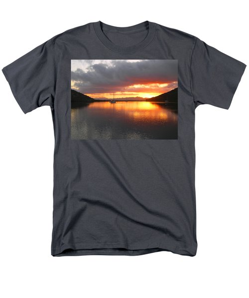 Sailboats At Sunrise In Puerto Escondido Men's T-Shirt  (Regular Fit) by Anne Mott