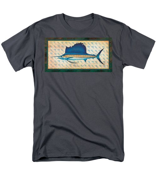 Men's T-Shirt  (Regular Fit) featuring the painting Sailfish by Jon Q Wright
