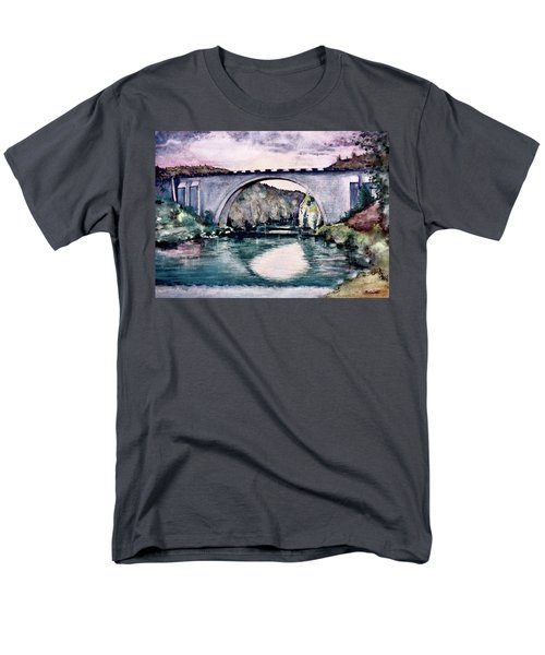 Men's T-Shirt  (Regular Fit) featuring the painting Saint Bridge by Geni Gorani