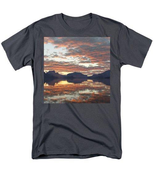 Men's T-Shirt  (Regular Fit) featuring the digital art Salmon Lake Sunset by Mark Greenberg