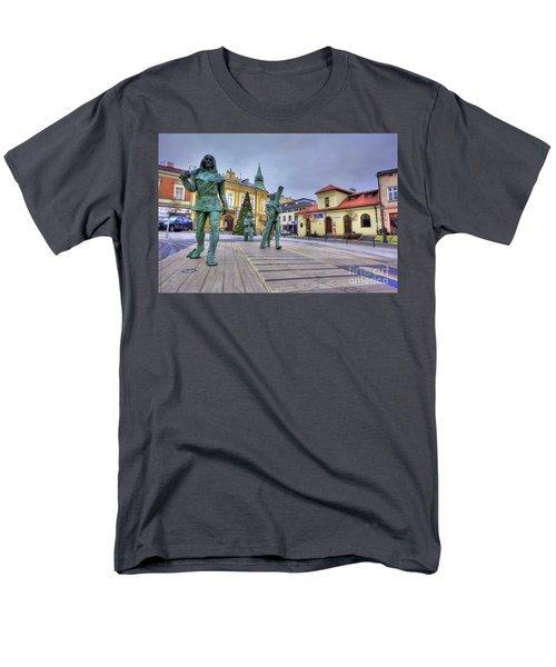 Men's T-Shirt  (Regular Fit) featuring the photograph Salt Miners Of Wieliczka, Poland by Juli Scalzi