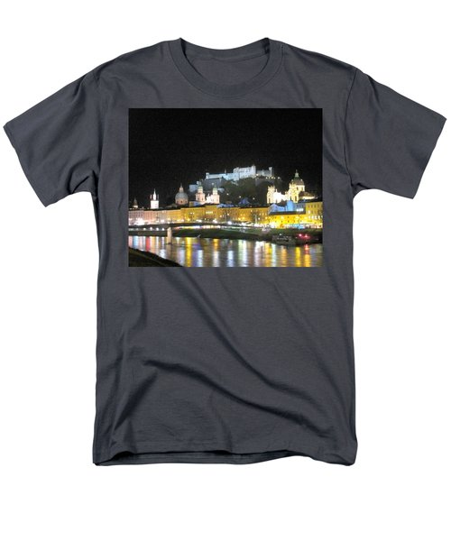 Salzburg At Night Men's T-Shirt  (Regular Fit) by Betty Buller Whitehead