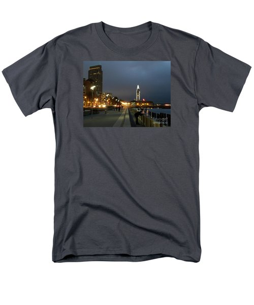 Men's T-Shirt  (Regular Fit) featuring the photograph San Francisco Bay At Night by Haleh Mahbod