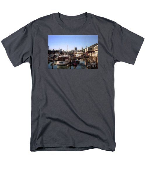 San Francisco Pier And Boats Men's T-Shirt  (Regular Fit) by Ted Pollard