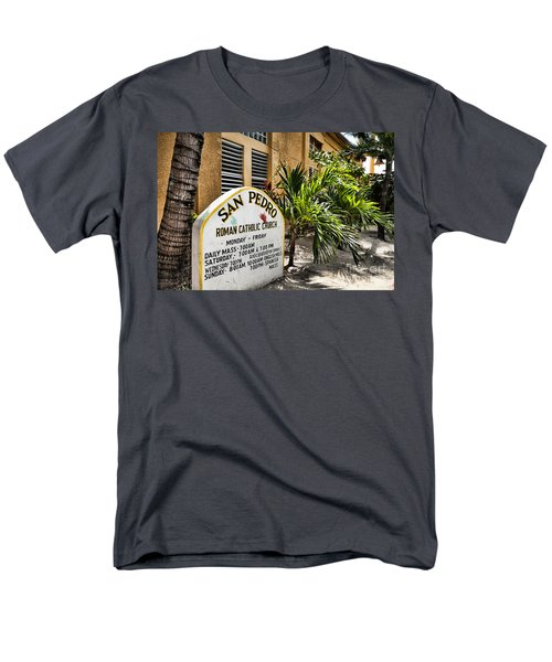 Men's T-Shirt  (Regular Fit) featuring the photograph San Pedro Roman Catholic Church by Lawrence Burry