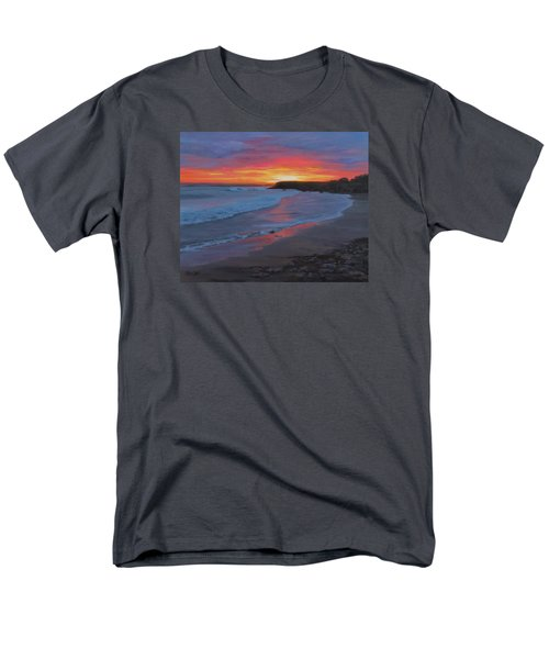 Men's T-Shirt  (Regular Fit) featuring the painting San Simeon by Karen Ilari