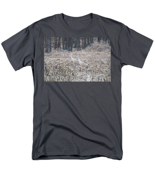 Men's T-Shirt  (Regular Fit) featuring the photograph Sandhill Cranes 1171 by Michael Peychich