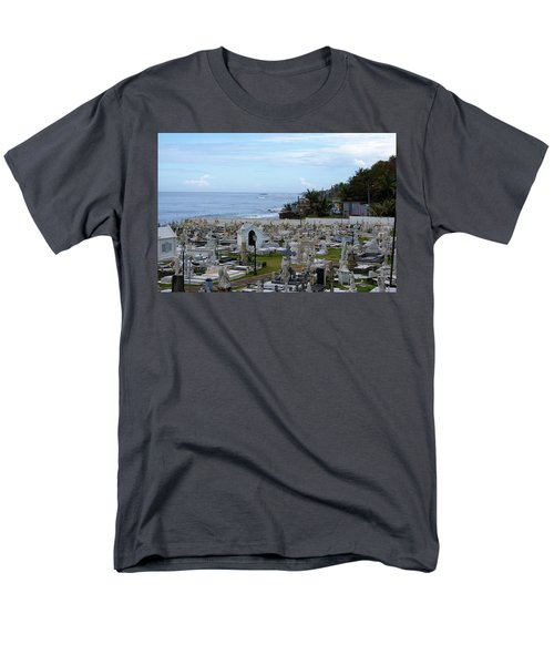 Men's T-Shirt  (Regular Fit) featuring the photograph Santa Maria Magdalena De Pazzis Cemetery, Old San Juan by Lois Lepisto