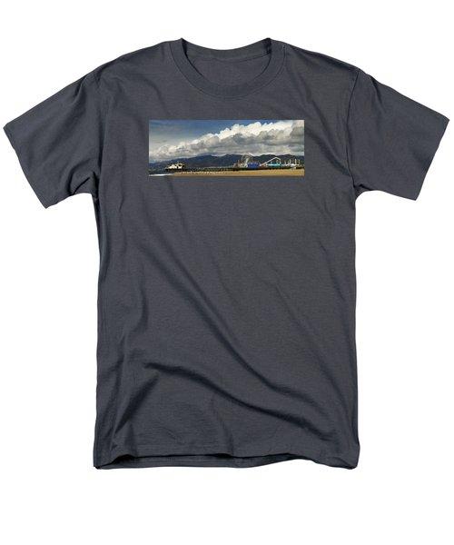 Santa Monica Pier Pan Men's T-Shirt  (Regular Fit) by Joe  Palermo
