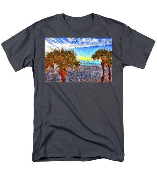 Sarasota Beach Florida Men's T-Shirt  (Regular Fit) by Joan Reese