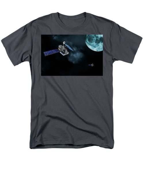 Satellites In Orbit Around The Moon Men's T-Shirt  (Regular Fit) by Christian Lagereek