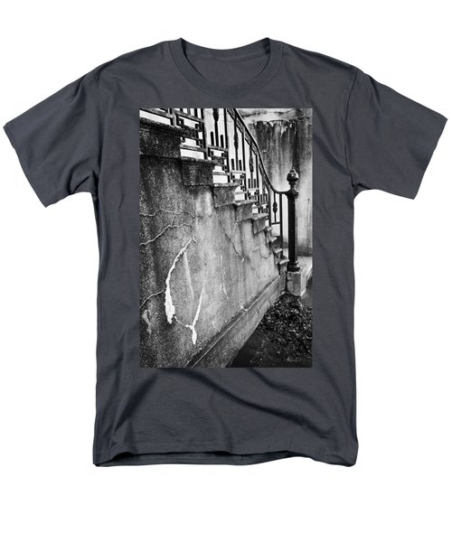 Savannah Stairway Black And White Men's T-Shirt  (Regular Fit) by Renee Sullivan