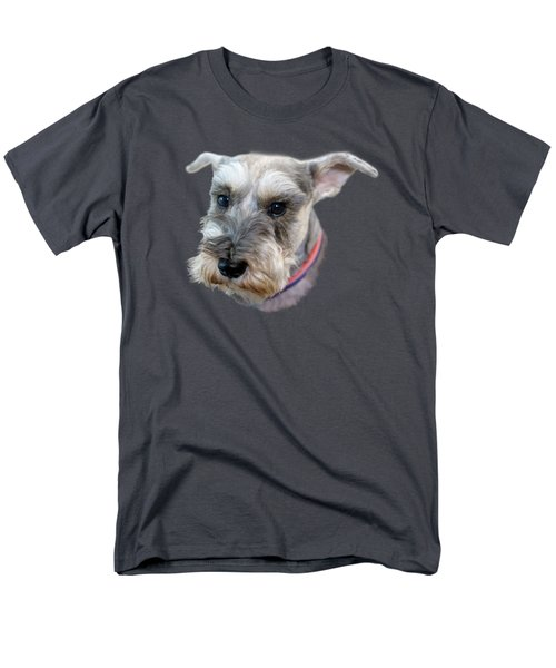 Men's T-Shirt  (Regular Fit) featuring the photograph Schnauzer - Transparent by Nikolyn McDonald