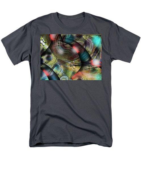 Screaming Spirals Men's T-Shirt  (Regular Fit) by Yul Olaivar