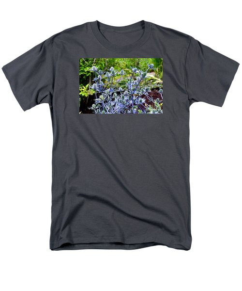 Men's T-Shirt  (Regular Fit) featuring the photograph Sea Holly Blooming by Tanya Searcy