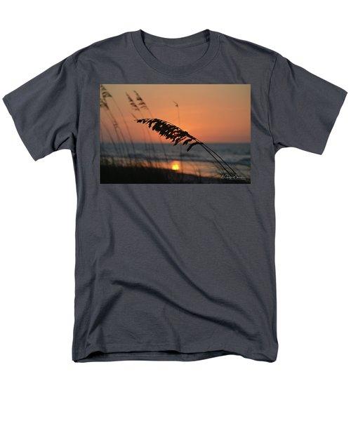 Sea Oats At Sunrise Men's T-Shirt  (Regular Fit) by Gordon Mooneyhan