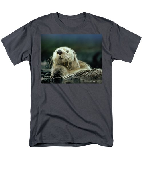 Sea Otter  Men's T-Shirt  (Regular Fit) by Tim Fitzharris