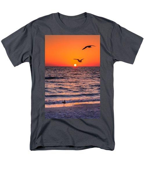 Seagull Hat-trick Men's T-Shirt  (Regular Fit) by Craig Szymanski