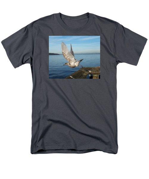 Seagull Taking Off Men's T-Shirt  (Regular Fit) by Karen Molenaar Terrell