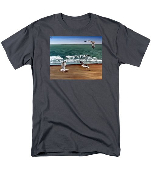 Men's T-Shirt  (Regular Fit) featuring the painting Seagulls 2 by Natalia Tejera
