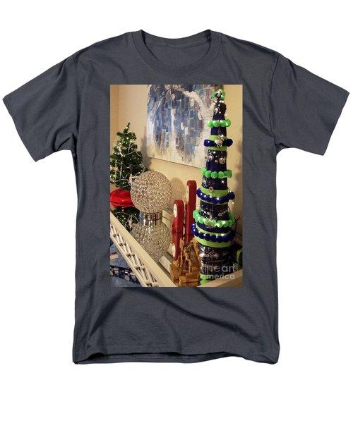 Seahawk Christmas Men's T-Shirt  (Regular Fit) by Judyann Matthews