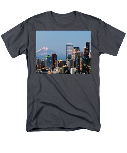 Seattle At First Light II Men's T-Shirt  (Regular Fit) by E Faithe Lester