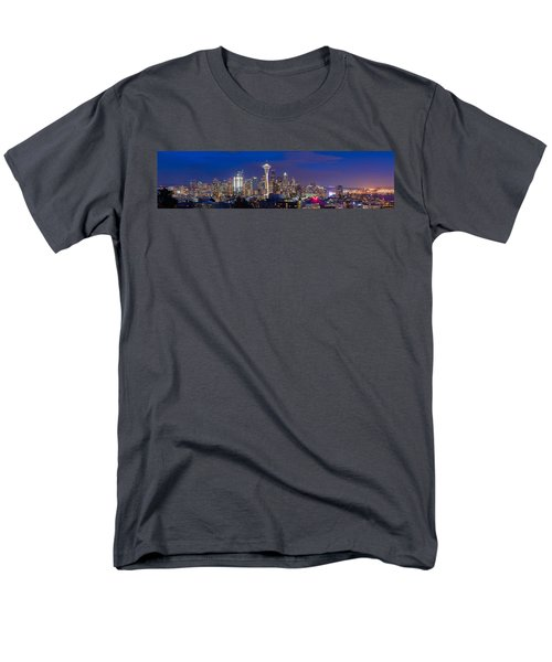 Seattle Night View Men's T-Shirt  (Regular Fit) by Ken Stanback