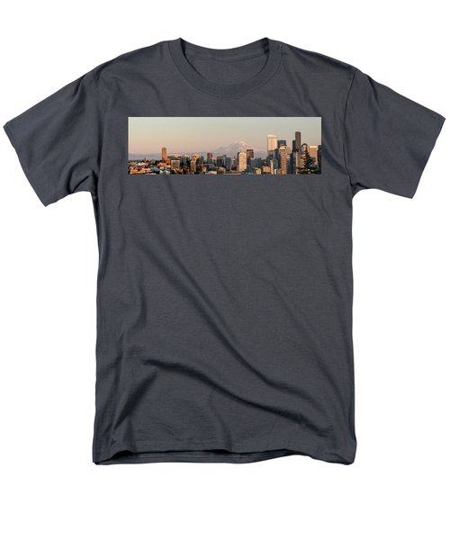 Seattle Panorama At Dusk Men's T-Shirt  (Regular Fit) by E Faithe Lester