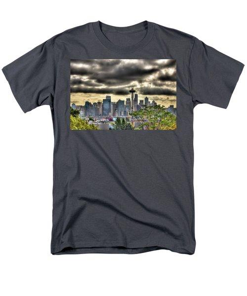 Seattle Washington Men's T-Shirt  (Regular Fit) by David Patterson