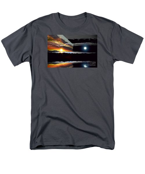 Sechelt Sunset Day And Night Men's T-Shirt  (Regular Fit) by Elaine Hunter