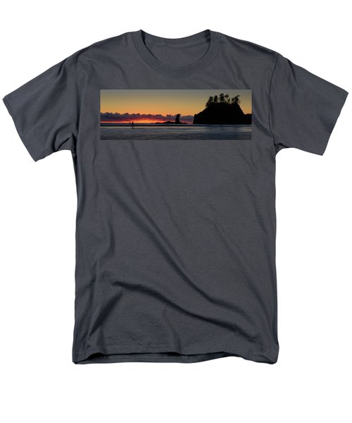 Men's T-Shirt  (Regular Fit) featuring the photograph Second Beach Silhouettes by Dan Mihai