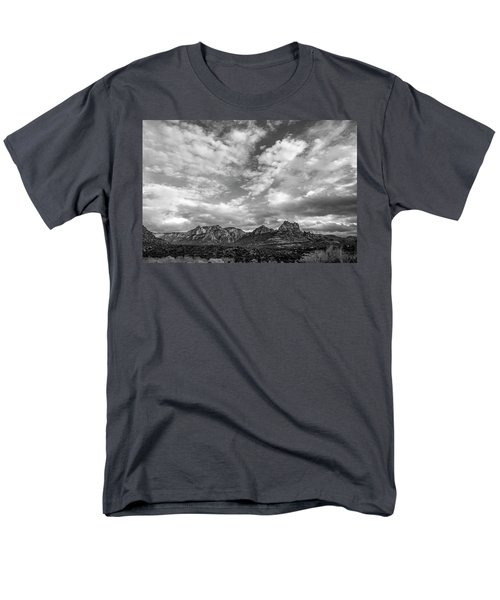 Men's T-Shirt  (Regular Fit) featuring the photograph Sedona Red Rock Country Bnw Arizona Landscape 0986 by David Haskett