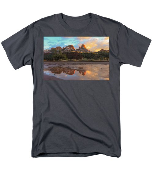 Men's T-Shirt  (Regular Fit) featuring the photograph Sedona Reflections by Robert Aycock