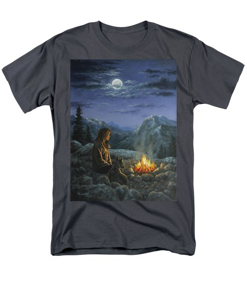Men's T-Shirt  (Regular Fit) featuring the painting Seeking Solace by Kim Lockman