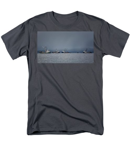 Men's T-Shirt  (Regular Fit) featuring the photograph Seiners Off Mistaken Island by Randy Hall