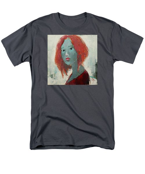 Men's T-Shirt  (Regular Fit) featuring the painting Self Portrait 1502 by Becky Kim