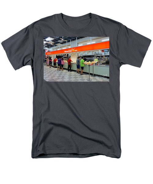 Men's T-Shirt  (Regular Fit) featuring the photograph Self-service Restaurant On A Sidewalk In Kaohsiung City by Yali Shi