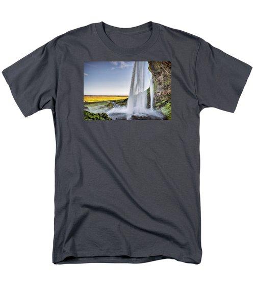 Seljalandsfoss Men's T-Shirt  (Regular Fit) by Brad Grove