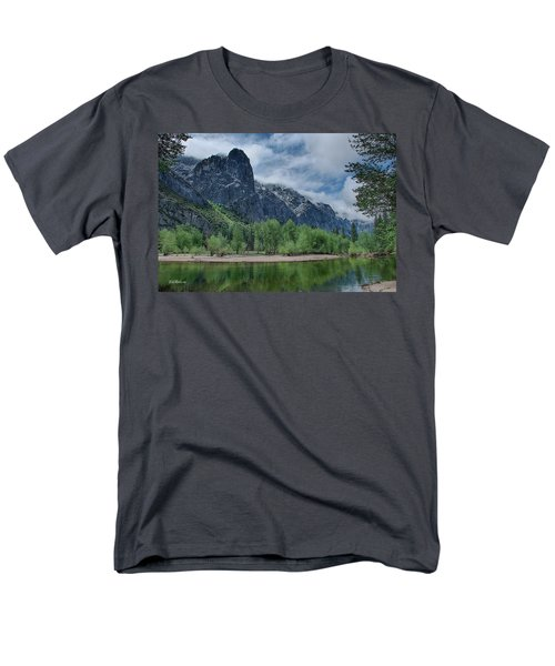 Sentinel Rock After The Storm Men's T-Shirt  (Regular Fit) by Bill Roberts