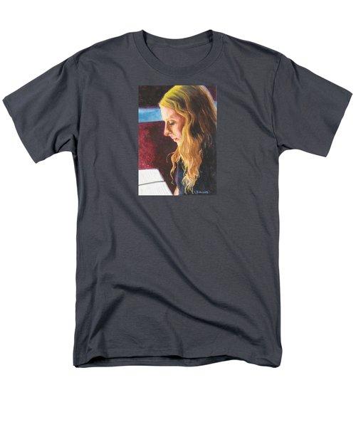 Serious Contemplation Of A Menu Men's T-Shirt  (Regular Fit) by Connie Schaertl