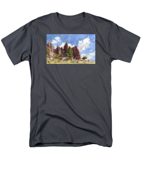 Men's T-Shirt  (Regular Fit) featuring the painting Settler's Park, Boulder, Colorado by Anne Gifford