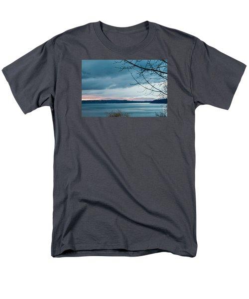 Shades Of Blue As Night Falls Men's T-Shirt  (Regular Fit) by E Faithe Lester