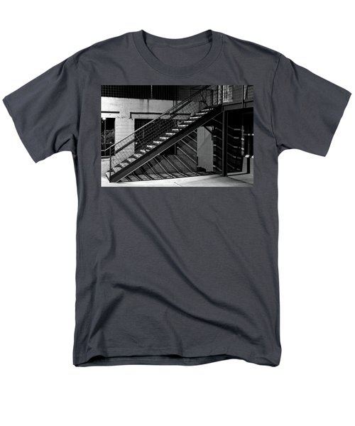 Shadow Of Stairs In Mono Men's T-Shirt  (Regular Fit) by Christopher McKenzie