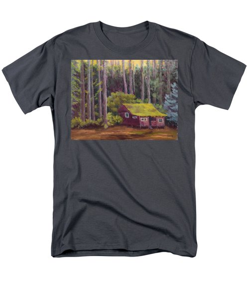 Men's T-Shirt  (Regular Fit) featuring the painting Shady Grove by Nancy Jolley