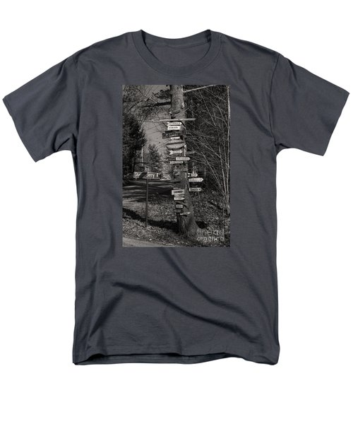Men's T-Shirt  (Regular Fit) featuring the photograph Shaker Jerry Road-moultonborough N H by Mim White