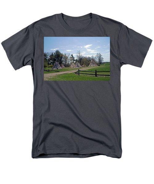 Shaker Teepees? Men's T-Shirt  (Regular Fit) by Judy Johnson