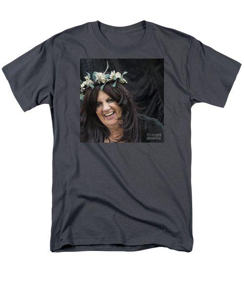 Sharing A Joke Men's T-Shirt  (Regular Fit) by David  Hollingworth